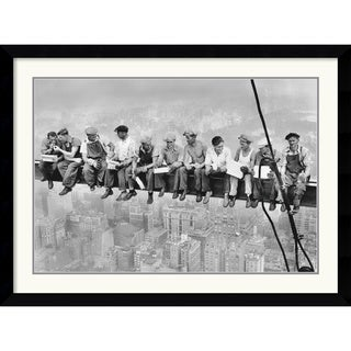 'New York - Lunch Atop a Skyscraper' Framed Art Print