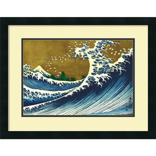 Katsushika Hokusai 'Big Wave (from 100 views of Mt. Fuji)' Framed Art Print