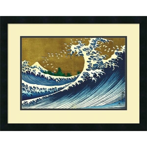 Katsushika Hokusai 'Big Wave (from 100 views of Mt. Fuji)' Framed Art Print