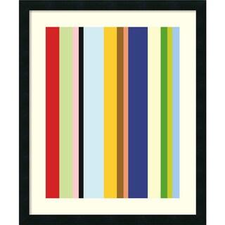 Ron Bleier 'Curry Stripe ' Framed Art Print