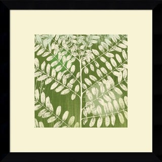 Erin Clark 'Forest Leaves' Framed Art Print
