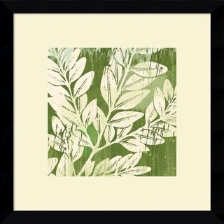 Erin Clark 'Meadow Leaves' Framed Art Print