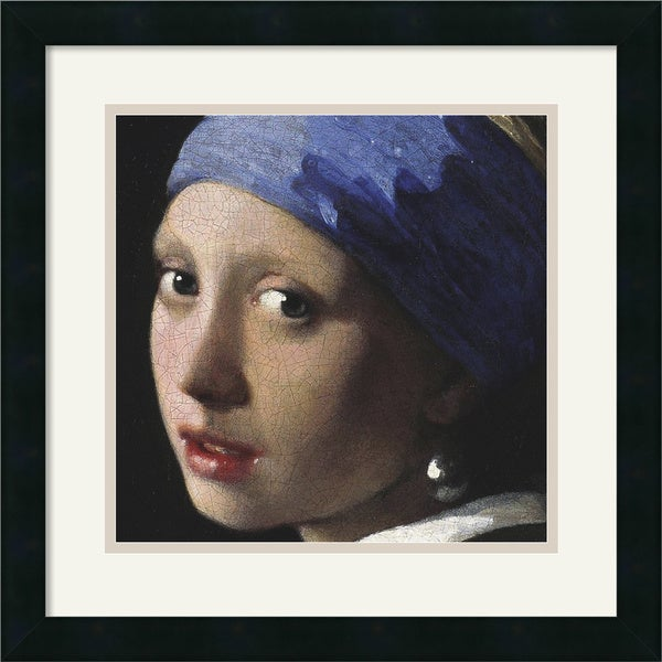 Johannes Vermeer 'Girl with a Pearl Earring (detail)' Framed Art Print