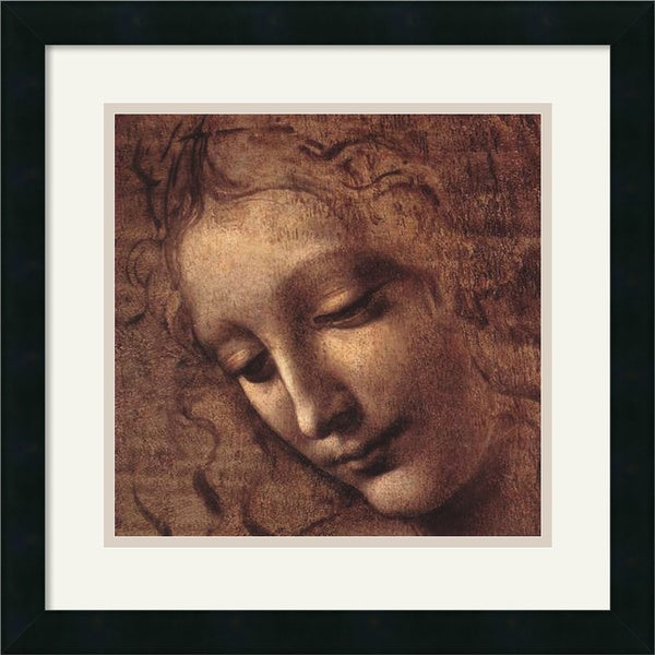 Leonardo da Vinci 'Testa di Faniciulla Detta (detail)' Framed Art Print