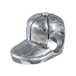 Sterling Essentials Sterling Silver Baseball Cap Bead