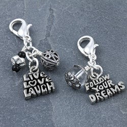 Fashion Forward Silverplated Inspirational Charms (Set of 2)