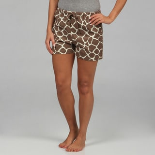 Leisureland Women's Giraffe Boxer Shorts