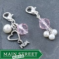 Fashion Forward Silver 'Mom' Pearl Charms (4-9 mm) (Set of 2)