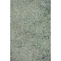 Handmade Blue Shag Wool Rug (8' x 10')
