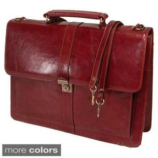 Stebco Structured Flapover Top Grain Leather Executive Case