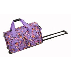 Rockland Deluxe 22-inch Love Carry On Rolling Duffel Bag