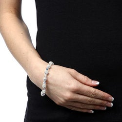 Crystale Created Stone Beaded Stretch Bracelet