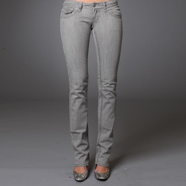 Women's 'Bolsa Chica' Grey Straight Leg Jeans