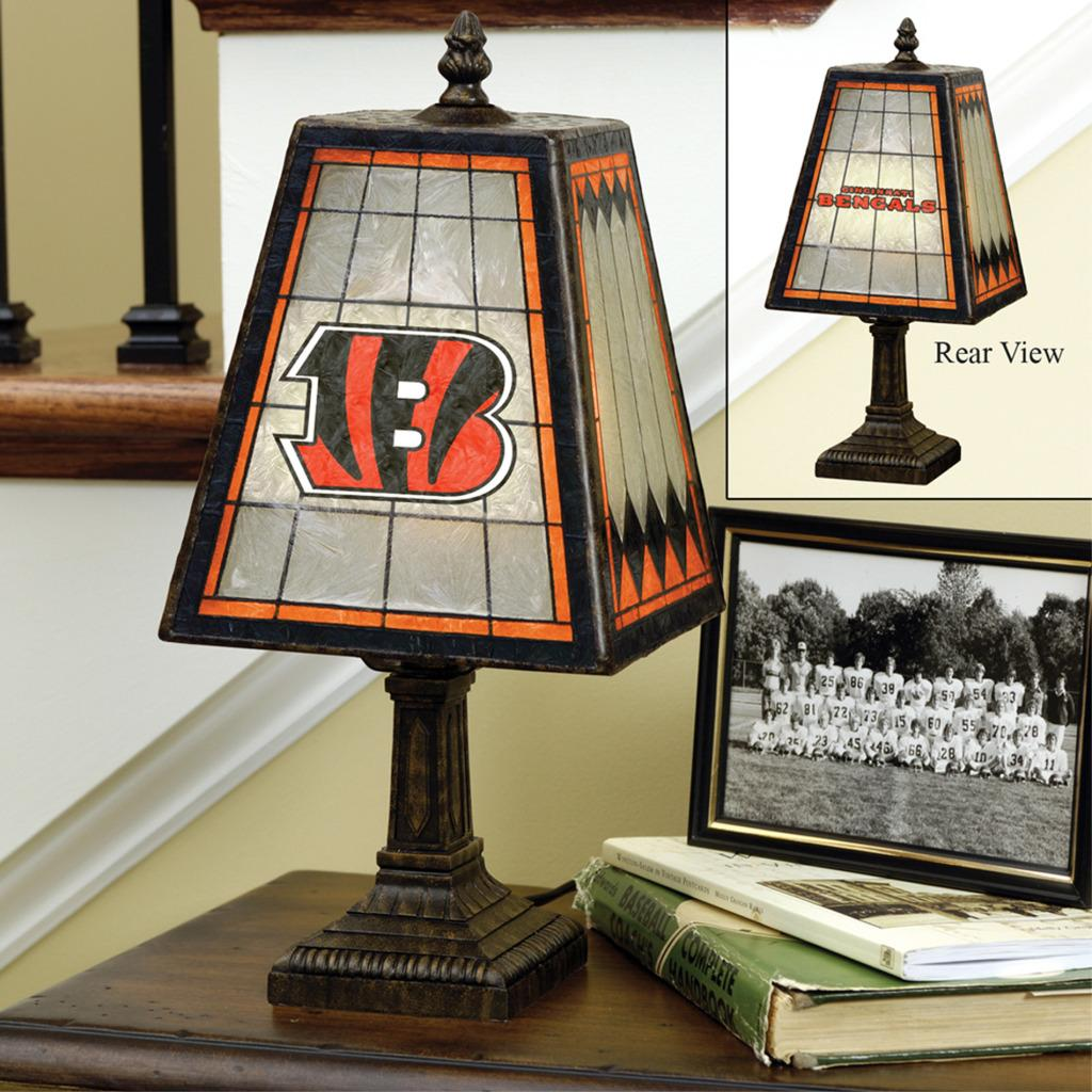 Cincinnati Bengals 14-inch Art Glass Lamp