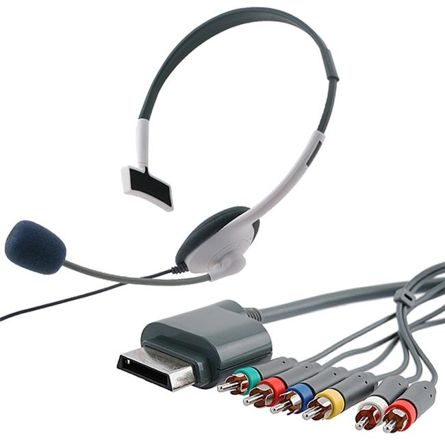 INSTEN Component HD AV Cable/ Headset for Microsoft Xbox 360