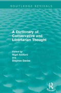 A Dictionary of Conservative and Libertarian Thought (Paperback)