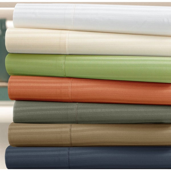 Luxury Cotton 400 Thread Count Stripe 6-piece Sheet Set