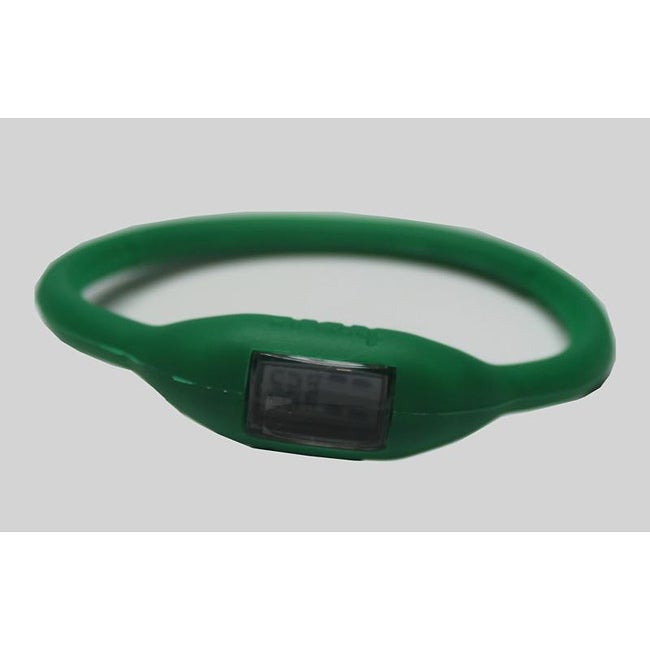 TRU: Green Silicone Band Sports Watch