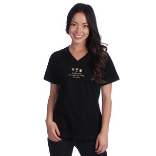 Coed Sportswear Women's Black V-neck Tee