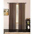 Ella Chocolate Chenille/ Faux Silk Stripe 84-inch Curtain Panel Pair