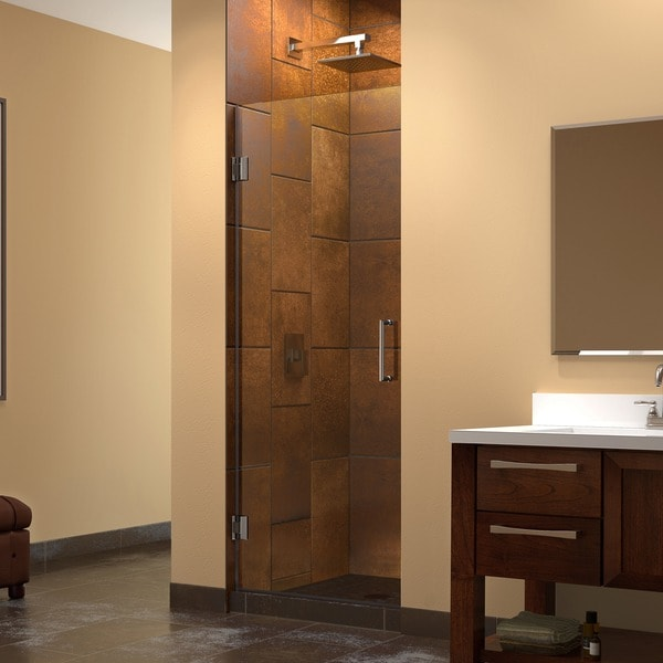 Dreamline Unidoor 26x72 Inch Frameless Hinged Shower Door
