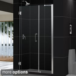 "DreamLine UNIDOOR Frameless Glass Shower Door 41-45"" W x 72"" H"