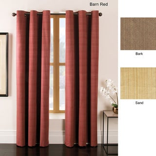 Madison Woven Ribbed Grommet-top Curtain Panel Pair