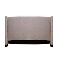 Carrie Natural Fabric Queen-size Headboard
