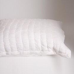 Ruched Ivory Standard-size Sham