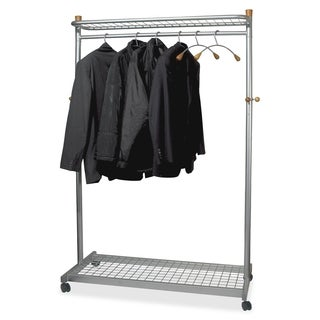 Alba Two-Shelf Chrome Coat Rack