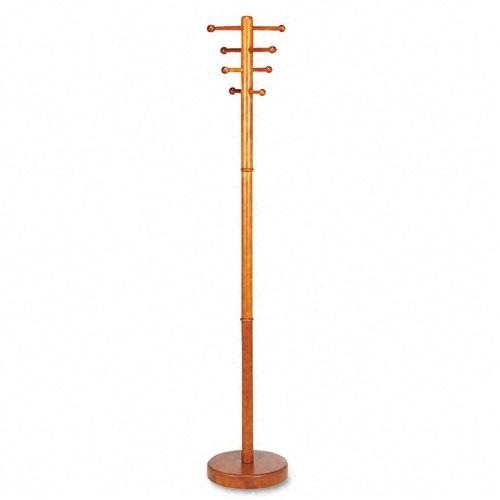 Buddy Products Medium Cherry Wood Coat Rack