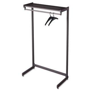 Quartet Black Garment Rack with Shelf