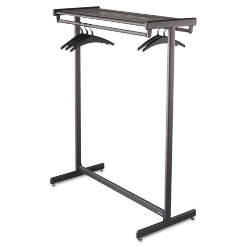 Quartet Black Double-side Garment Rack with Shelf