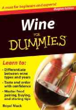 Wine for Dummies Refrigerator Magnet Books (Hardcover)