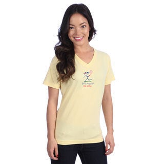 Coed Sportswear Women's Banana Yellow V-neck Tee