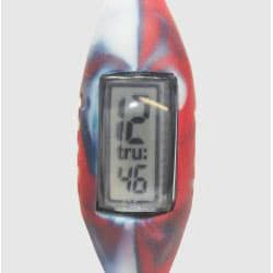 TRU: Red/ White/ Blue Silicone Band Sports Watch