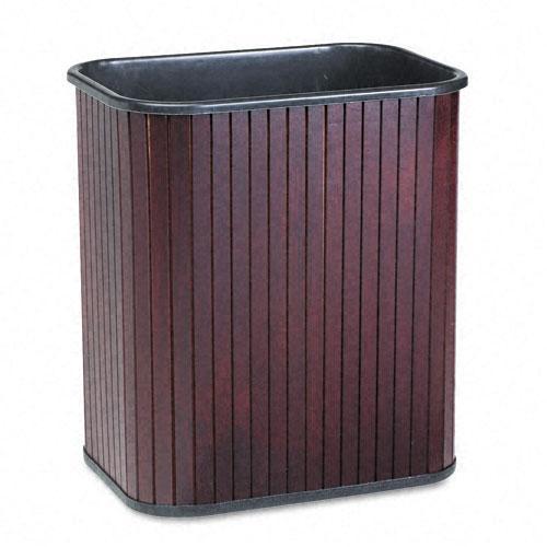 Advantus Rectangular Hardwood Wastebasket