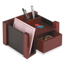 Rolodex Wood Mahogany Desk Director