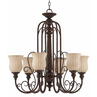 Madamoiselle Tortoise Shell 6-light Chandelier