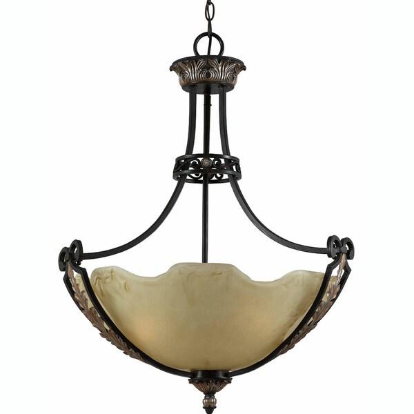Corinthian Bronze Iron 3-light Pendant