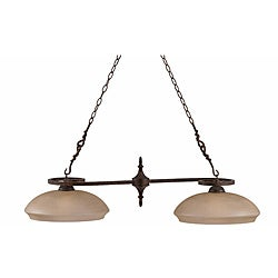 Gibson English Bronze 2-light Island Light