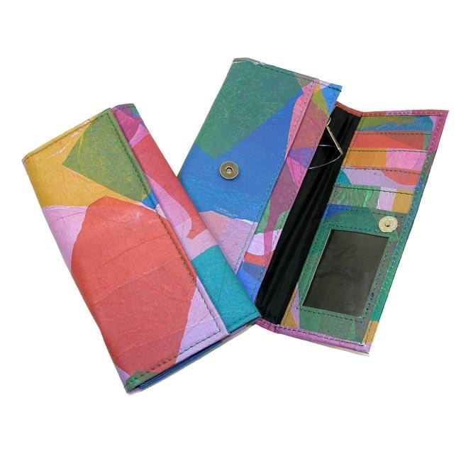 Recycled Plastic Patchwork Wallet (India)