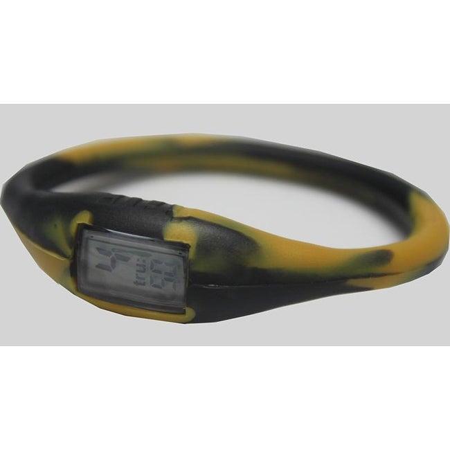TRU: Black/ Gold Silicone Band Sports Watch