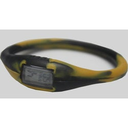 TRU: Black/ Gold Silicone Band Sports Watch
