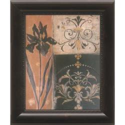 'Iris Silhouette' Framed Wall Art