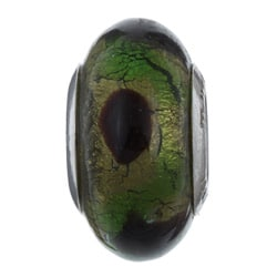 Sterling Essentials Sterling Silver Naoto Murano Glass Bead