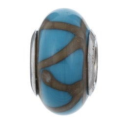Sterling Essentials Sterling Silver Turchese Murano Glass Bead