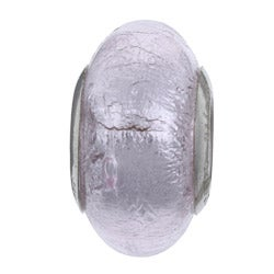 Sterling Essentials Sterling Silver Rosa Murano Glass Bead