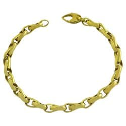 Fremada 14k Yellow Gold 8.5-inch Polished Fancy Link Bracelet