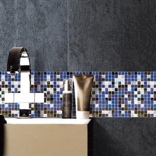 SomerTile 12x12-inch Cuivre Marina Glass Mosaic Wall Tile (13 tiles/13.27 sqft.)